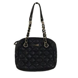 Kate Spade Black Quilted Leather Chain Strap Tote